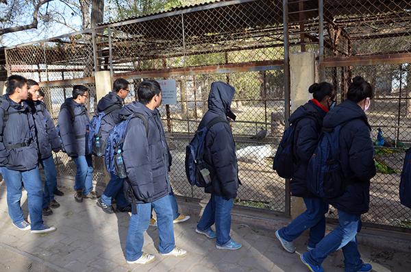 银川百年职校全体师生参观动物园